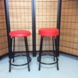 カウンター用補強付き丸椅子